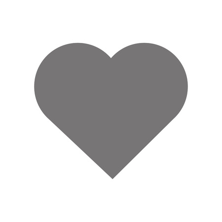 hearth shape icon design, gray on white background