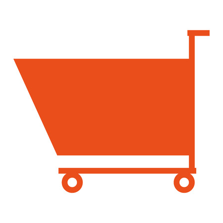 shoping: icon of shoping cart on flat style, vector design Illustration