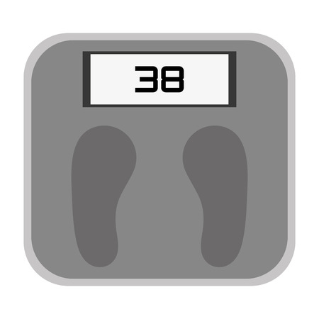 grey scale: simple grey digital weight scale vector illustration