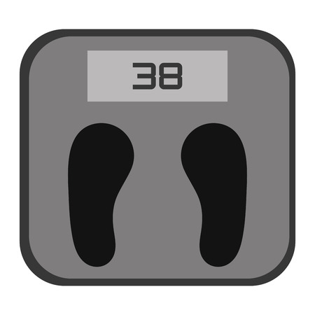 grey scale: simple grey and black digital weight scale vector illustration Illustration