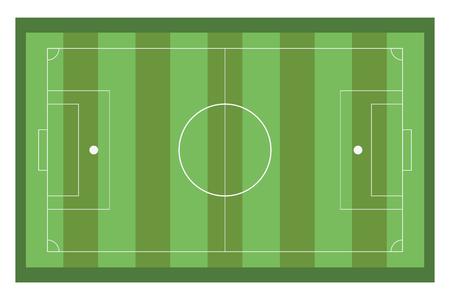 sideline: green horizontal topview of football field vector illustration