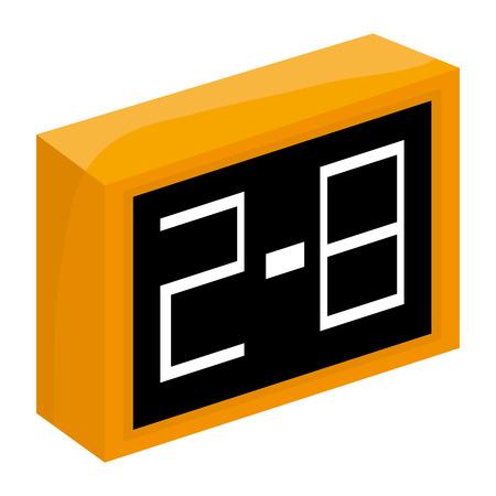 indicator board: simple yellow and black scoreboard vector illustration Illustration