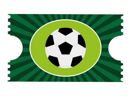 greeen: greeen football game ticket vector illustration flat style design