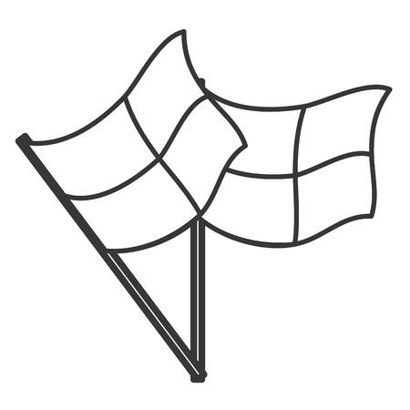 football referee: simple black line football referee flags vector illustration