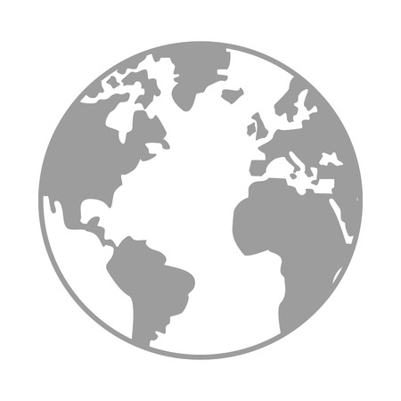 distinction: simple earth globe with distinction between earth and land vector illustration Illustration