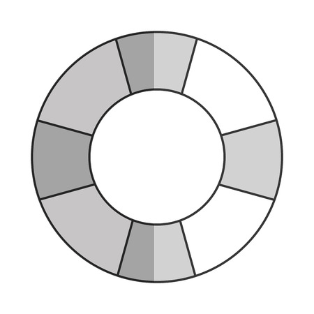 lifesaver: simple grey striped lifesaver icon vector illustration