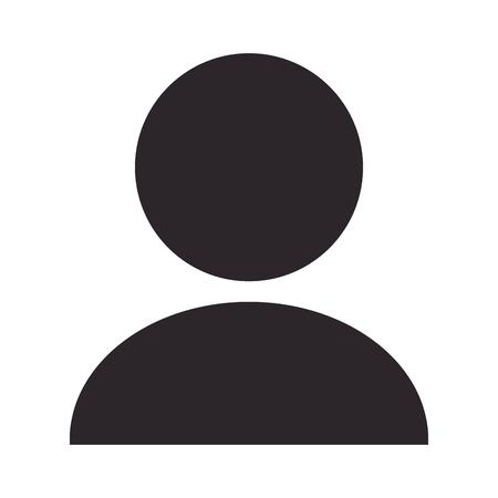 unisex: simple unisex person pictogram vector illustration flat style design Illustration