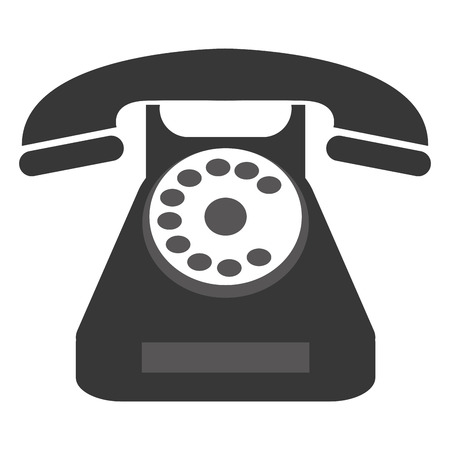 dialplate: grey classic rotary dial telephone vector illustration