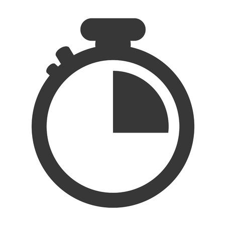 chronometer: simple grey classic chronometer icon vector illustration