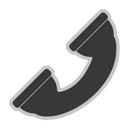 receiver: simple grey big telephone receiver icon vector illustration Illustration