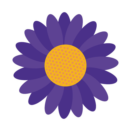 petal: flat design blue petal flower icon vector illustration