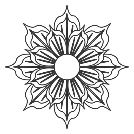 petal: detailed petal flower flat design icon vector illustration