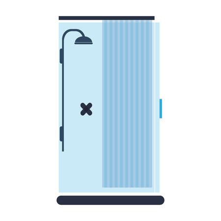 sterilize: flat design blue shower icon vector illustration Illustration