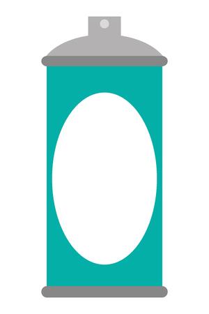 spray can: flat design blue spray can icon vector illustration Illustration