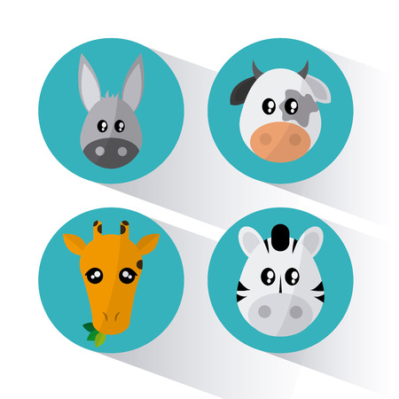 wildlife reserve: Animal concept with cartoon icons design, vector illustration 10 eps graphic.
