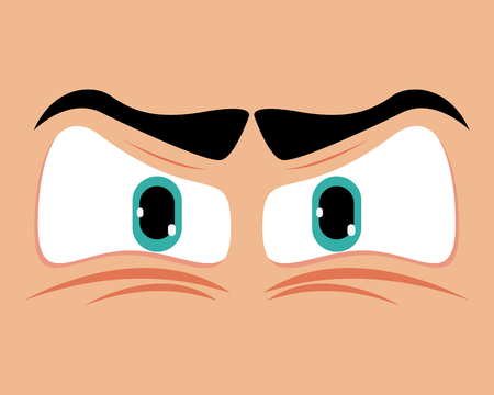 closeup: Eyes concept with expression design, vector illustration 10 eps graphic.