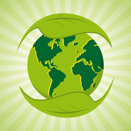 green eco: Eco friendly concept with green icon design, vector illustration 10 eps graphic.