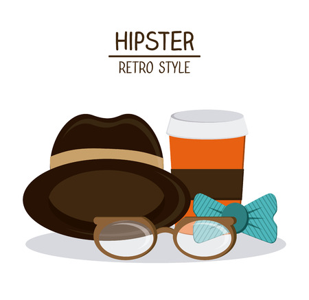 adolescent: Hipster concept with style icon design, vector illustration 10 eps graphic.