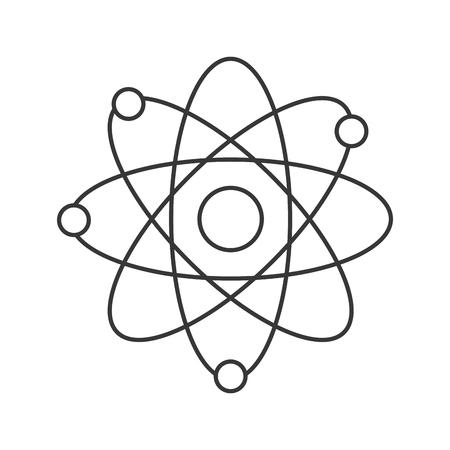 orbits: line design of atom with orbits icon vector illustration Illustration