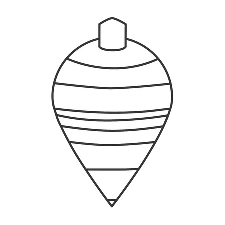 spinning top: black line striped spinning top toy vector illustration
