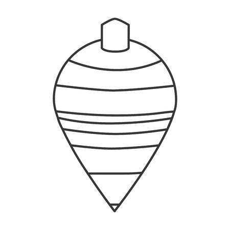 unwind: black line striped spinning top toy vector illustration