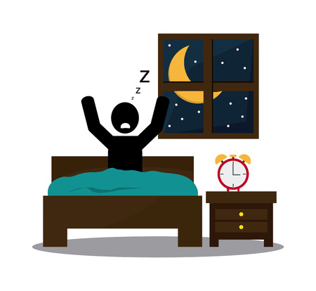 Rest concept with tired icon design Illustration