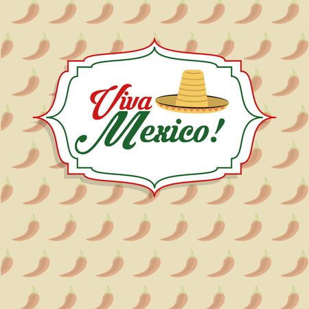 mexico culture: Mexico culture represented by hat icon. Colorfull and flat background