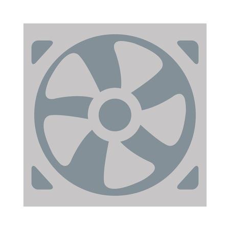 aeration: flat design of fan icon vector illustration Illustration