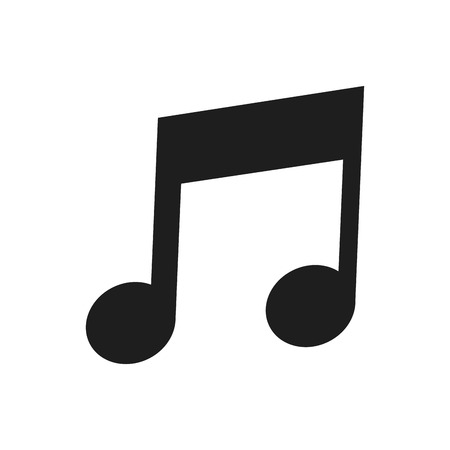 eighth: flat design of musical eighth note icon vector illustration