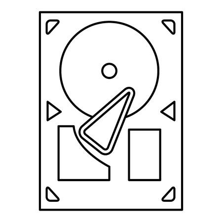 lp: simple black line vinyl record player or gramophone vector illustration