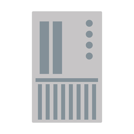 sd card: flat design grey sd card icon vector illustration