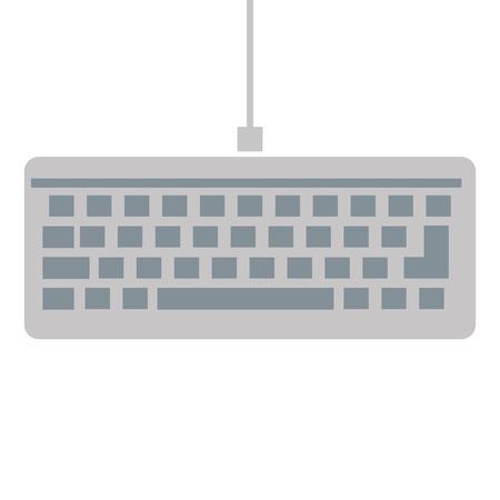 qwerty: simple flat grey keyboard icon vector illustration Illustration
