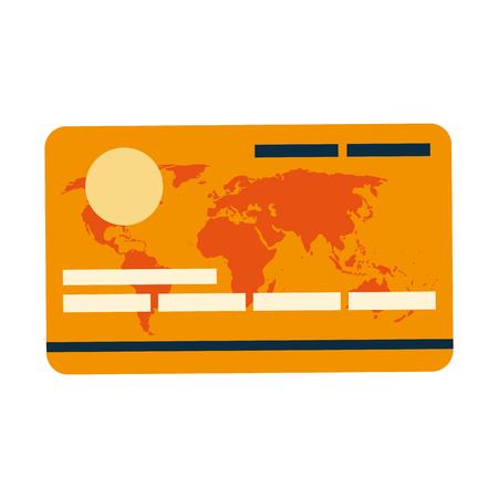 debit: flat design of credit or debit card icon vector illustration Illustration