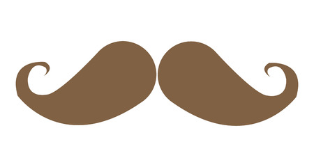 hair mask: simple flat design vintage mustache icon vector illustration