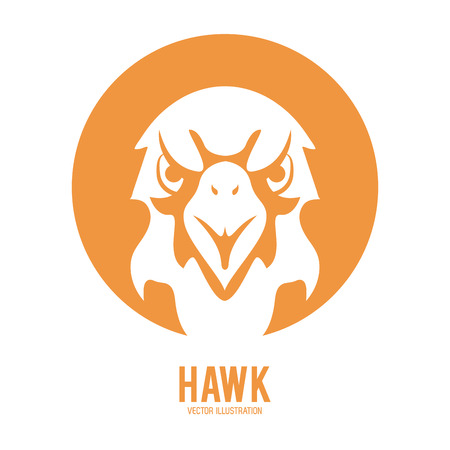 Animal  concept represented by hawk icon. Isolated and flat illustration