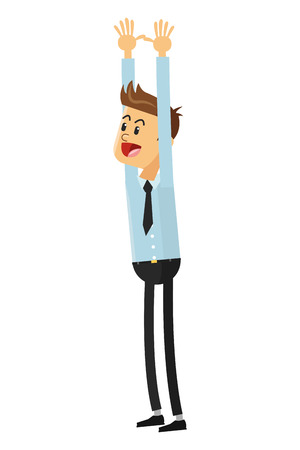 goofy: flat design goofy businessman icon vector illustration Illustration
