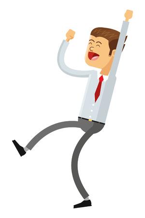 wacky: flat design goofy businessman icon vector illustration Illustration