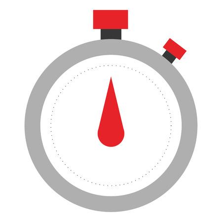 chronometer: simple flat analog chronometer icon vector illustration Illustration
