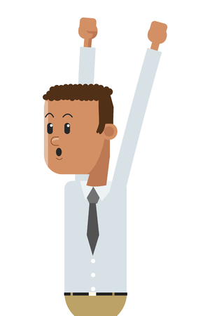 goofy: flat design goofy businessman celebrating icon vector illustration Illustration