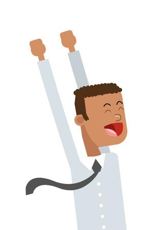 flat design goofy businessman icon vector illustration 向量圖像