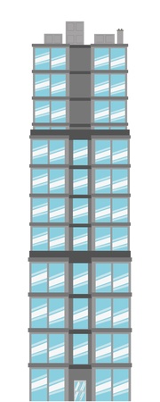 tall building: simple flat design tall building icon vector illustration