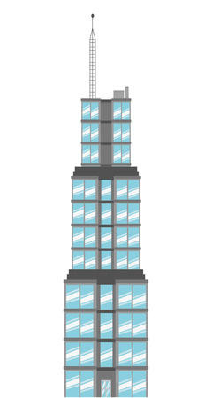 simple flat design sears tower icon vector illustration
