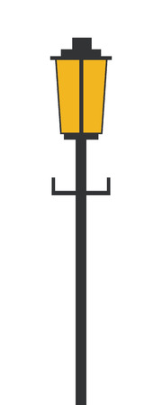 smithery: simple flat design outdoor lamp icon vector illustration