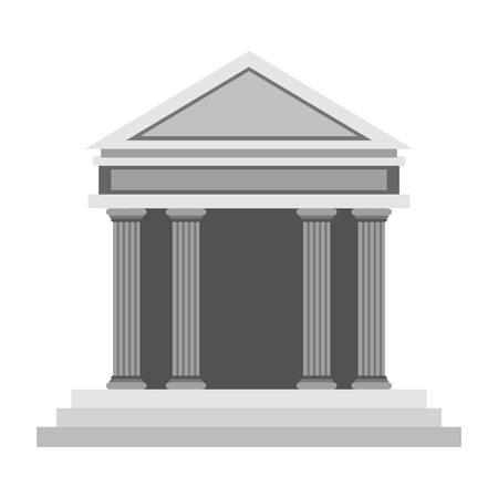derecho romano: dise�o plano simple icono antiguo edificio griego ilustraci�n vectorial Vectores
