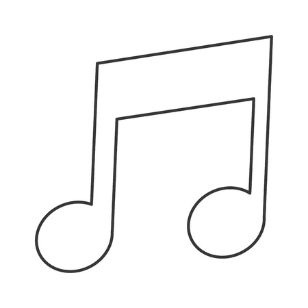 eighth: simple black line eighth note icon vector illustration