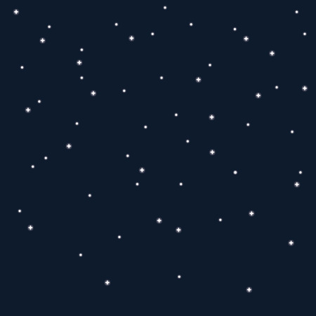 simple flat design starry night sky background vector illustration Stock Illustratie
