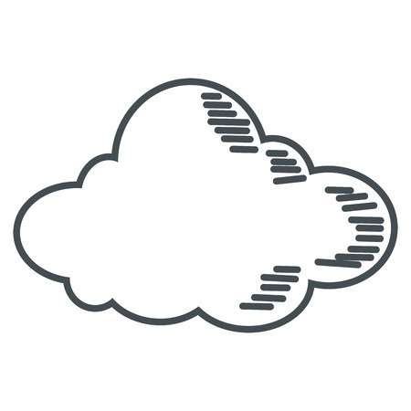 wheather forecast: simple flat design single cloud icon vector illustration
