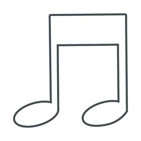 eighth: simple flat design eighth music note icon vector illustration Illustration