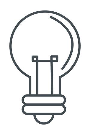 scriibble: simple flat design lightbulb line icon vector illustration