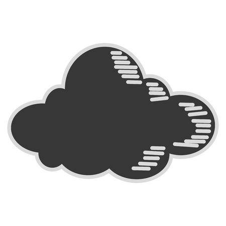 wheather: simple flat design single cloud icon vector illustration